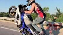 Extreme Freestyle Street Bike STUNTS + ACCIDENTS On Highway MIDDLE OF THE MAP RIDE 2013 St