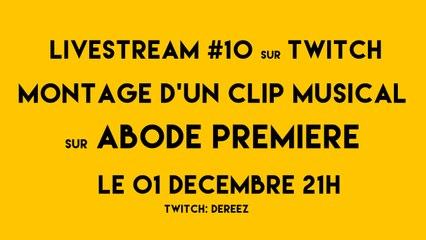 Live stream sur les logiciels de la suite Adobe Première et After Effects.
