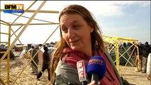 """Calais: visite de la """"jungle"""" des migrants, la ville dans la ville"""