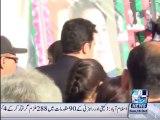 Bilawal Bhutto Zardari and Bakhtawar Bhutto Zardari visits mausoleum of martyrs
