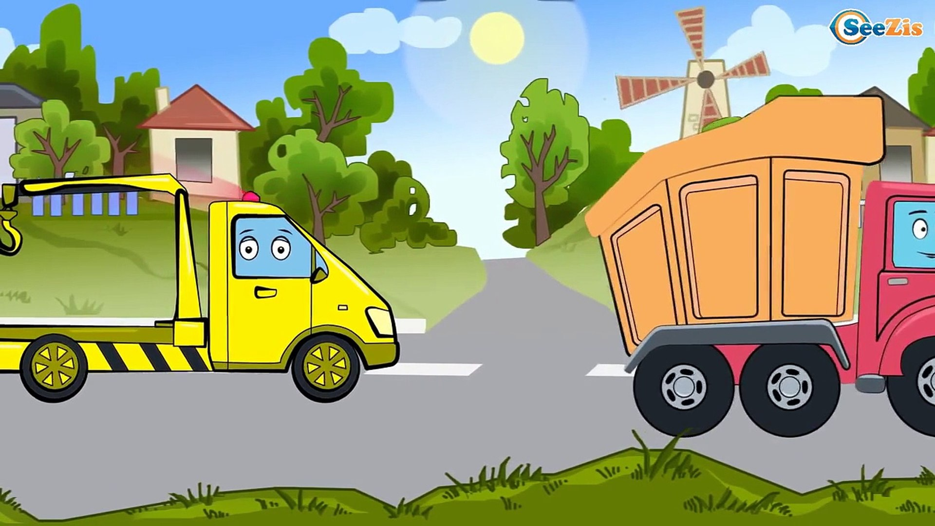 ✔ МУЛЬТИКИ  МАШИНКИ ВСЕ СЕРИИ. Грузовичок и его приключения в городе и на стройке! Video for Kids!