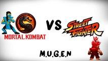 Mortal Kombat vs Street Fighter M.U.G.E.N - Akuma malvado: