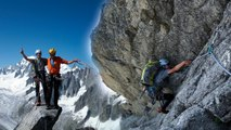 Aiguille du Moine Face Est voie Contamine Labrunie Chamonix Mont-Blanc alpinisme