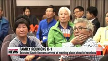 War-separated families gather at Sokcho ahead of reunion