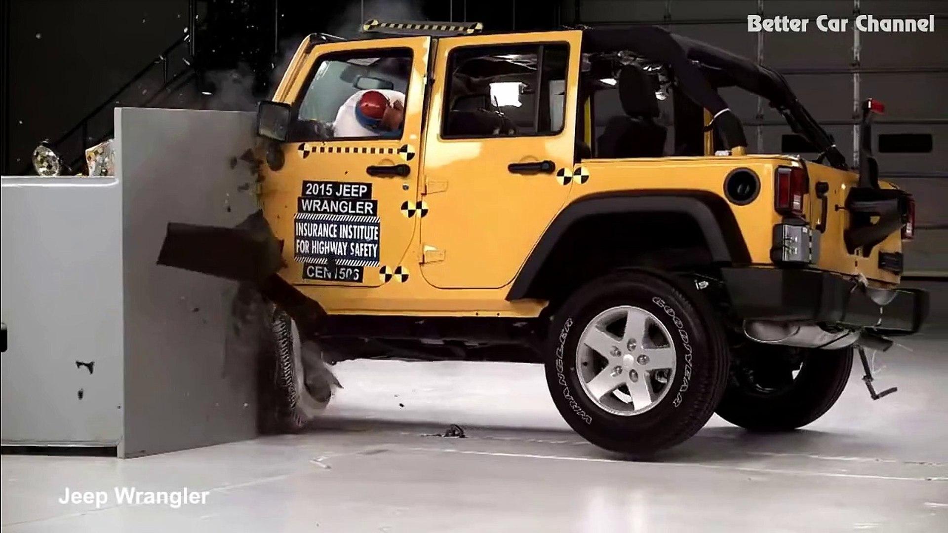 [CRASH TEST] 2015 Jeep Wrangler vs Toyota 4Runner on
