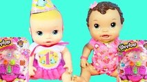 Baby Alive Dolls Get SHOPKINS Fluffy Baby - Happy Birthday Baby Alive Doll Toy Unboxing Vi