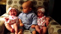 Landon the toddler is confused when he meets twins.