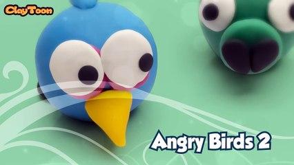 Angry birds 2 The blues, Matilda and Pig, Polymer clay tutorial.  شخصيات الطيور الغاضبة