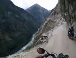 Insane bikers riding dangerous roads on top of indian mountain.... Amazing