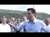 Report Tv - Lezhë, Basha i premton peshkatarëve naftë pa akcizë,