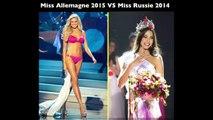 Miss France VS Miss Angleterre VS Miss Allemagne VS Miss Russie VS Miss USA VS Miss Colombie