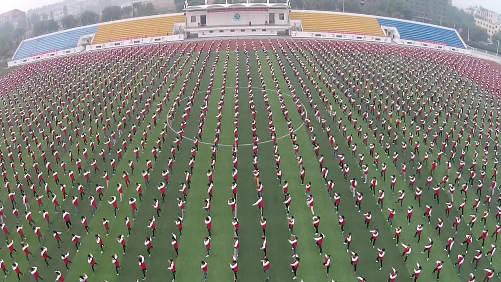 China intenta romper el récord del mundo de Tai Chi
