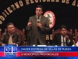N11 HACEN ENTREGA DE 500 SIILLAS DE RUEDAS A MUNICIPIOS PROVINCIALES DE LA REGION. ESTA PRIMERA ENTREGA SE HIZO A LAS