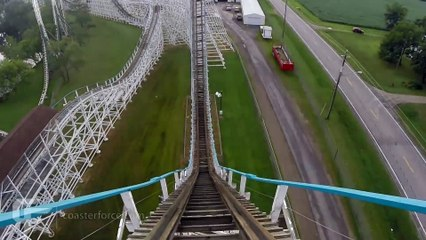 Tornado front seat on-ride HD POV @60fps Adventureland