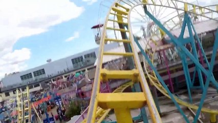 Mighty Mini Mega front seat on-ride HD POV Adventure Island