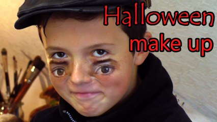Dad teams up with son for a scary Halloween face painting prank | Halloween Eyes MakeUp