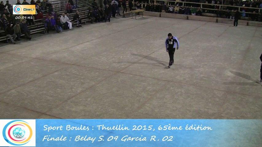 Finale, Sébastien Belay contre Romain Garcia, Sport Boules, Thuellin 2015