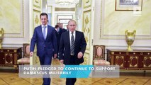 Assad leaves Syria for first time since start of war to meet Putin in Moscow