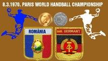 Handball гандбол Championnat du monde de handball masculin 1970 Final World Cup România DDR Germany