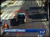 Conductores imprudentes son captados por las cámaras de la AMT