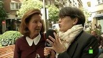 Thais Villas pregunta por la delincuencia a los vecinos del Barrio de Salamanca