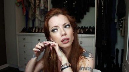 Julia Petit Passo a Passo tentando Amber Heard - Cabelo