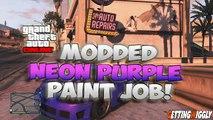 GTA V Online - Neon Purple Paint Color On Any Car - Secret