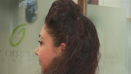 How To Do A Curly Half Updo