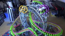 Impressive giant roller coaster made of K'nex - Clockwork - Knex Roller Coaster