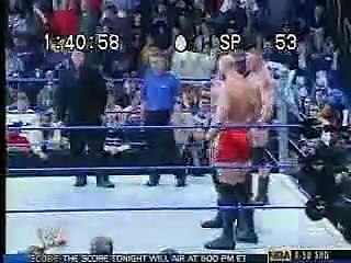 WWE Smackdown - Brock Lesnar, Matt Morgan, Nathan Jones and A-Train vs Kurt Angle and Chris Benoit (6th November 2003)