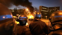Protesters clash with police during 2005 French riots – archive video