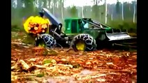 advanced forest equipment, amazing forestry machinery at work, extreme forestry machines