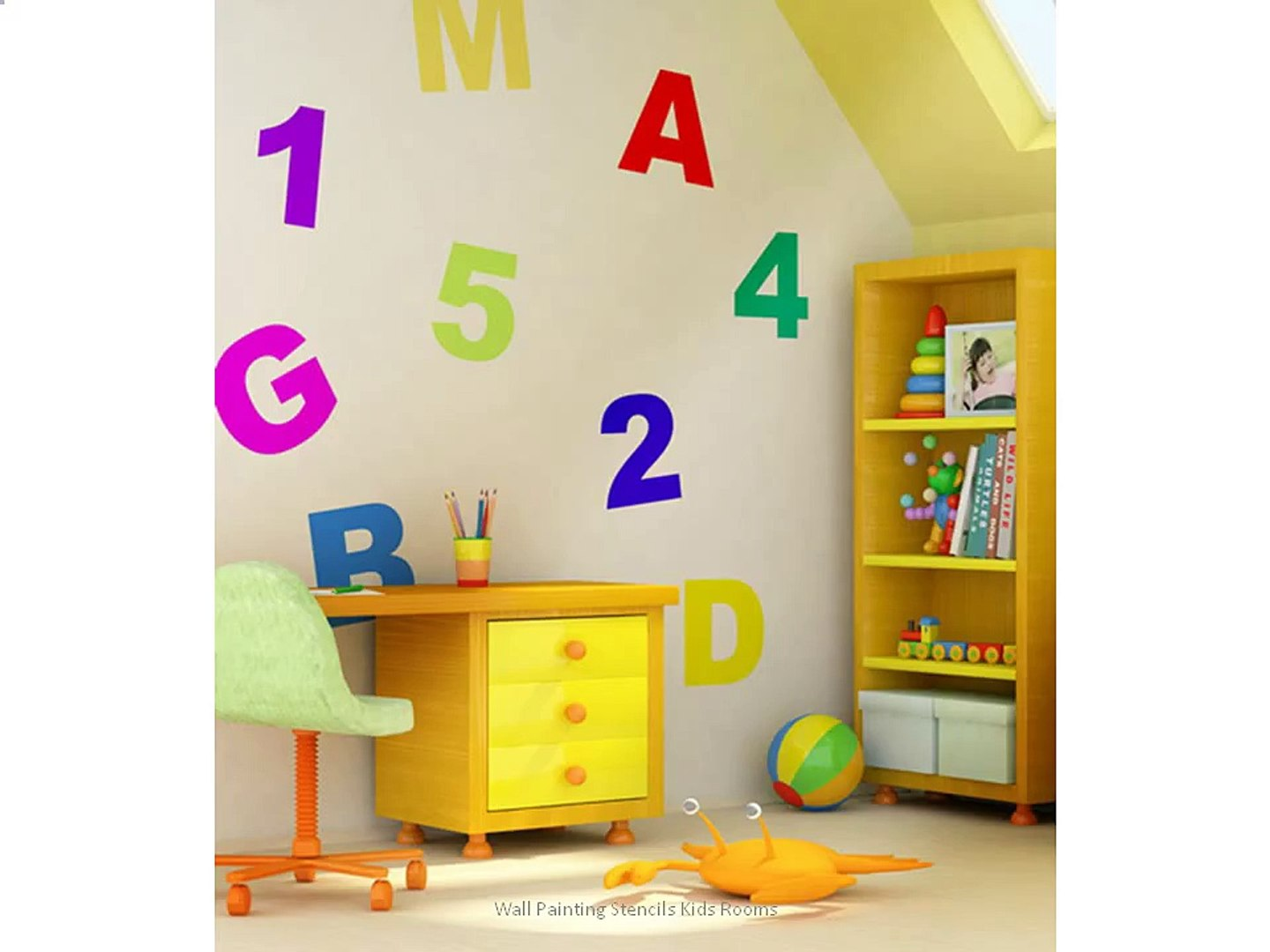 Wall Painting Stencils Kids Rooms