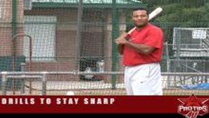 Carlos Lee: Hitting off a batting tee