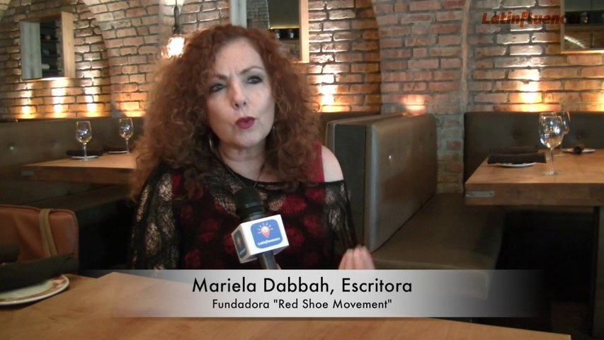 "LATINFLUENCERS habla con MARIELA DABBAH creadora del ""RED SHOE MOVEMENT"""