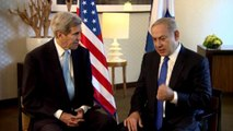 US Secretary of State Kerry Netanyahu and Israeli PM Benjamin Netanyahu meet in Berlin to discuss the recent wave of terror attacks spilling over Israel