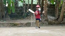 Jaw Dropping Style of Little Cricket Star
