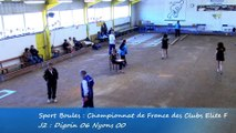 Second tour, Digoin contre Nyons, Club Elite Féminin J2, Sport Boules, saison 2015 / 2016