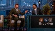 Bradley Cooper affronte Kimmel dans une partie de Scrabble