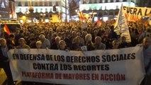 Miles de personas marchan por la dignidad en Madrid