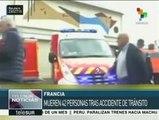 Francia: al menos 42 muertos en choque de un autobús y un camión