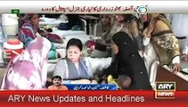 13 July 2015, Aseefa Bhutto Zardari Visits Lyari General Hospital Karachi
