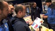Avant Sochaux - HAC: l'arrivée joueur au Stade Océane