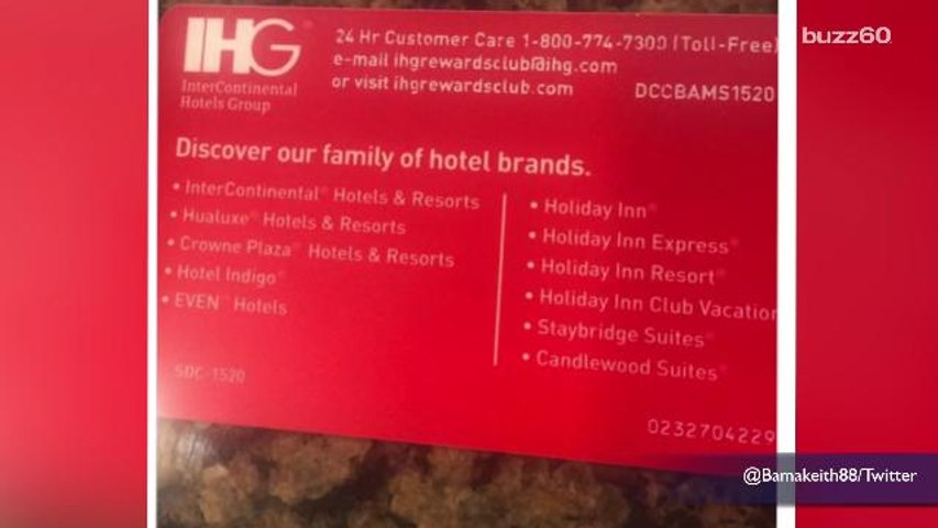 InterContinental Hotels Group prints phone sex number on customer loyalty  cards