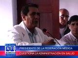 N11 HECTOR CHAVEZ CUESTIONA LA FORMA DE ADMINISTRACION EN EL SECTOR SALUD Y CALIFICA DE ESTAFA PRETENCIONES DE IMPLEMENT