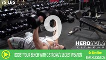 Dumbbell Bench Press Routine by G-Strong - 75 LBS - 120 LBS Dumbbell Workout with Secret Weapon