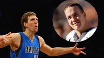 Dirk Nowitzki Challenges Peyton Manning to a 40-Yard Dash