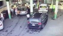 Accident happened in a car service center Saudi Arabia