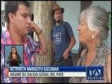 Margoth Escobar asume su salida ilegal del país