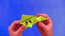 Cómo hacer una rana saltarina de papel. Papiroflexia. Origami. Animales de papel
